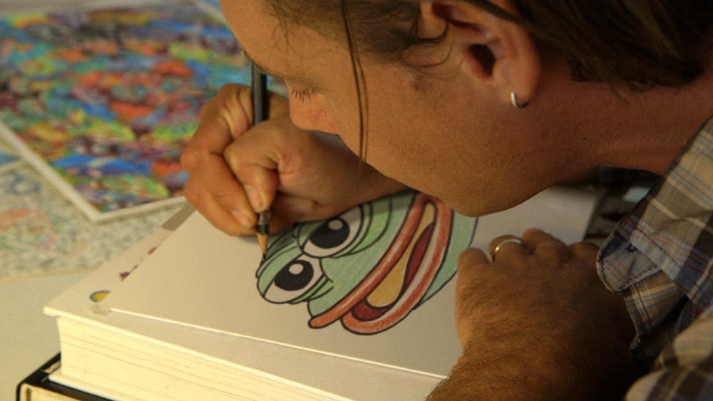 """Cartoonist Matt Furie created Pepe the Frog in 2005 for his comic strip """"Boy's Club"""" in 2005."""