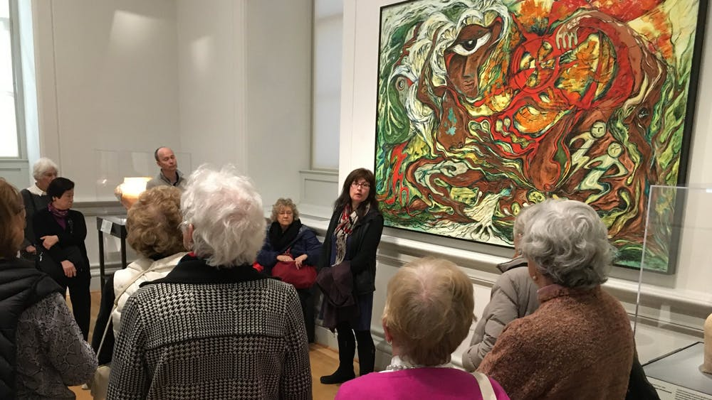 """Dr Adriana Green visited Charlottesville to generate interest and support for the exhibit """"Hearts of Our People"""" currently on display at the Smithsonian Renwick Gallery."""