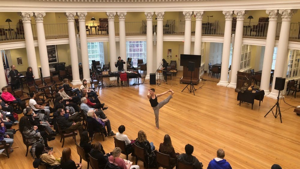 Jennifer Nugent was one of the performers at the Experimental Arts Festival last Friday at the Rotunda.