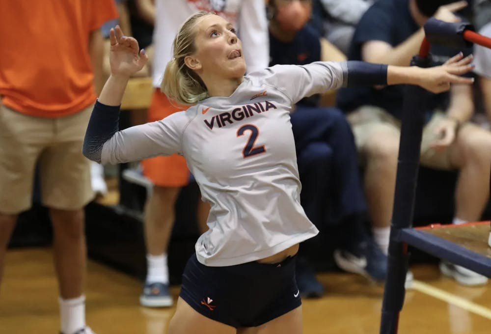 <p>Freshman outside hitter Brooklyn Borum was key in the team's win against Akron, as she recorded some crucial kills.</p>