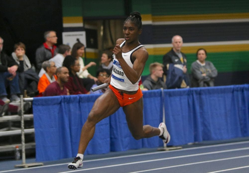 <p>Senior Halle Hazzard set a U.Va. record in the 60-meter dash with a time of 7.23 seconds on the second day of the NCAA Indoor Championships.</p>