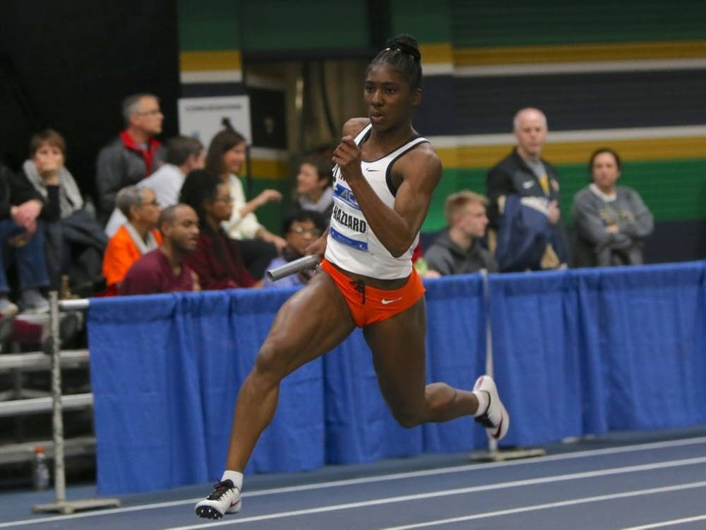 Senior Halle Hazzard set a U.Va. record in the 60-meter dash with a time of 7.23 seconds on the second day of the NCAA Indoor Championships.