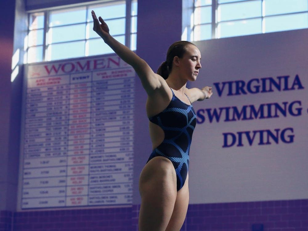 Junior diver Kylie Towbin was instrumental in the women's swim and dive team's 10-0 record in dual meets.