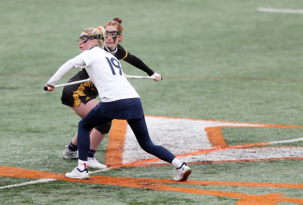 <p>Junior midfielder Annie Dyson opened the scoring against the Pirates and finished as one of six Cavaliers to score multiple goals on the day.</p>