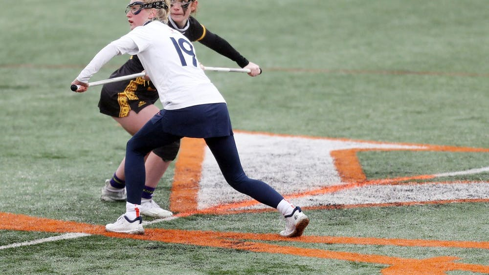 Junior midfielder Annie Dyson opened the scoring against the Pirates and finished as one of six Cavaliers to score multiple goals on the day.