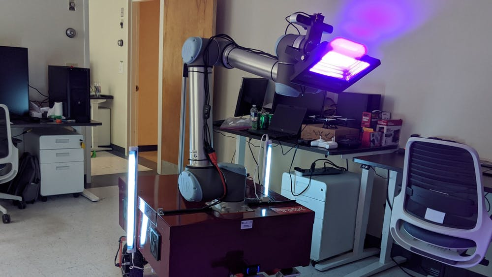 University professor Tomonari Furukawa and his team of graduate students developed a robot to decontaminate surfaces using UV light and hope to collaborate with the University Health System and other facilities to test and use the robot in clinical settings.