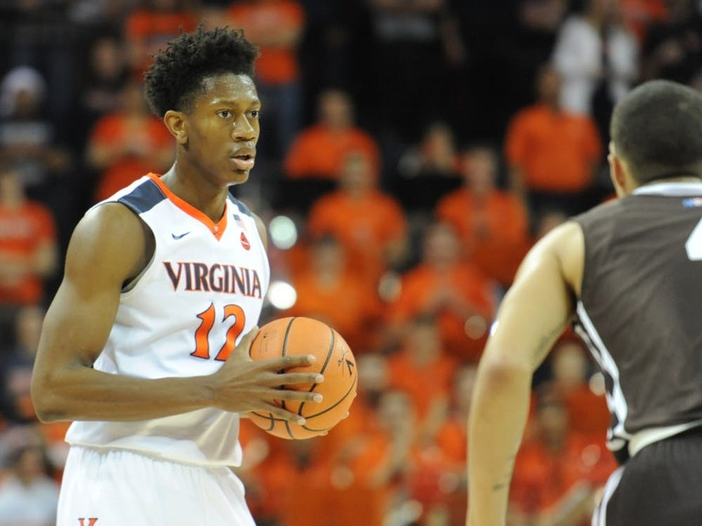 Redshirt freshman guard De'Andre Hunter led Virginia with 14 points Saturday.