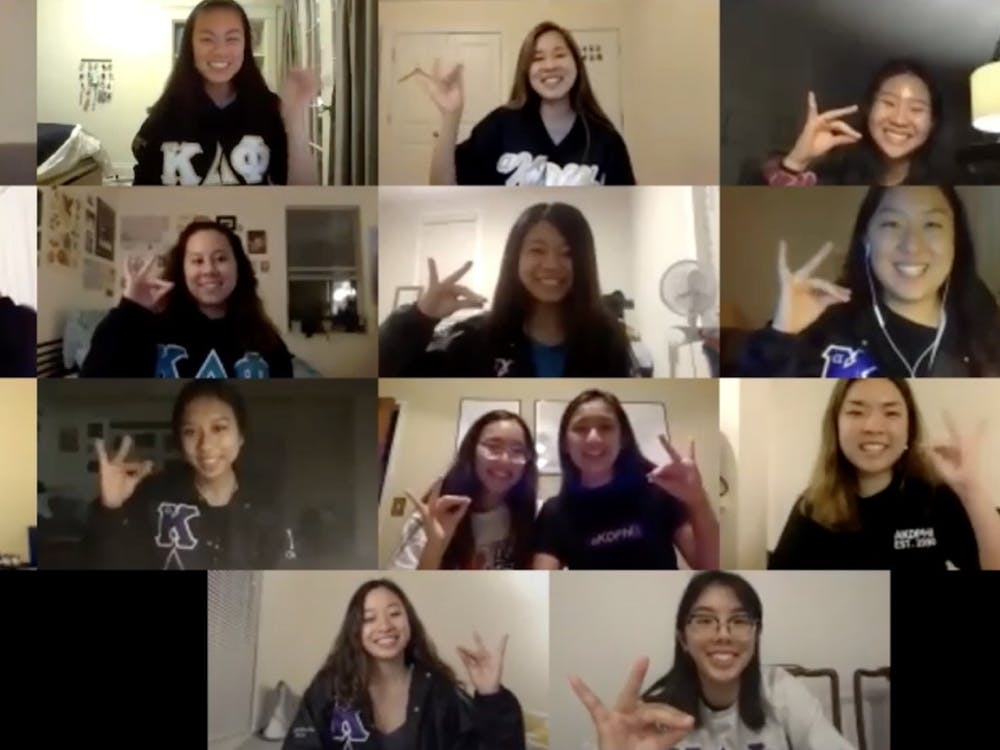 Since the start of COVID-19, Greek life organizations such as international Asian-interest sorority aKDPhi have been holding virtual chapters and events for their sisters.