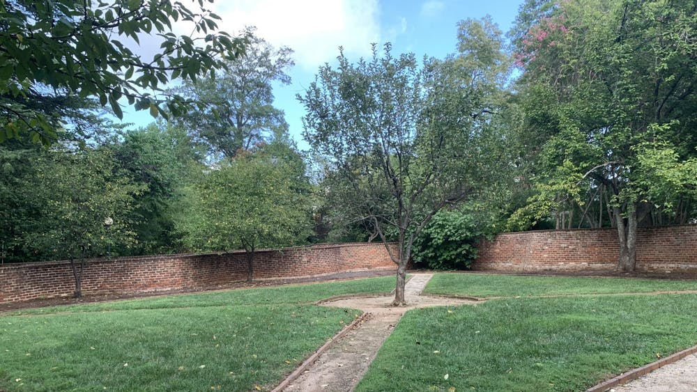 Over the course of the University's construction and existence from 1817 to 1865, an estimated total of 4,000 individuals labored on Grounds, though it is not known how many specifically tended the gardens.