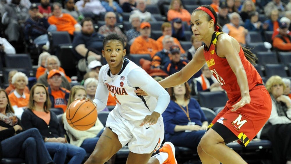 Virginia sophomore guard Dominique Toussaint finished with a team-high 18 points in the Cavaliers' losing effort against Maryland.