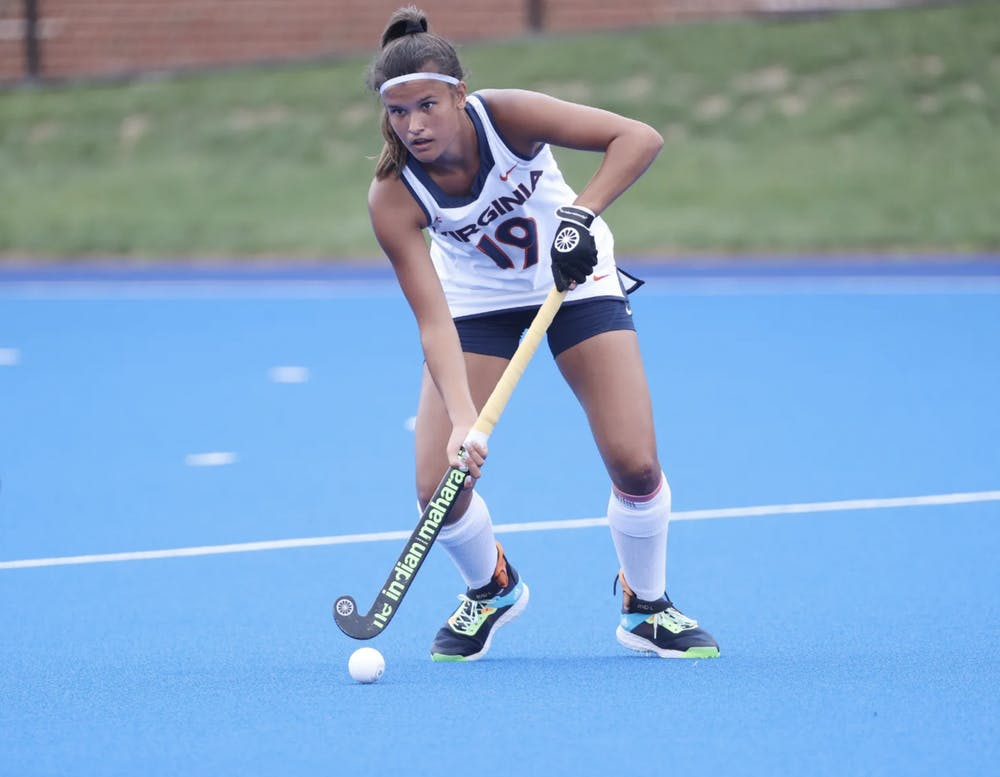 <p>Senior back Amber Ezechiels tallied a total of four points this weekend — an incredible start to the season.</p>