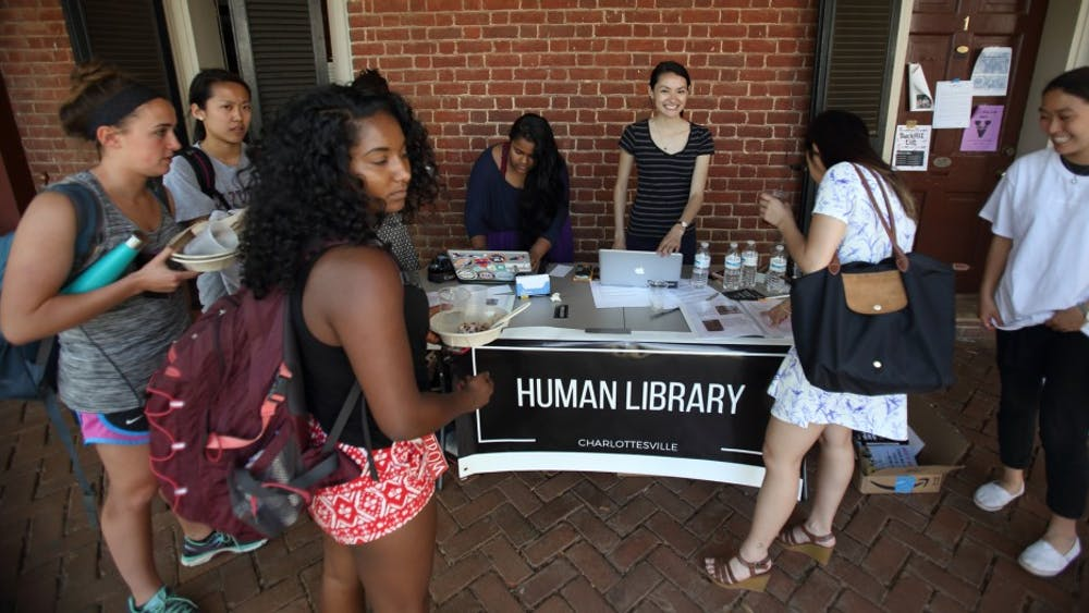 Human Library Charlottesville gave students a chance to share personal stories on the Lawn.