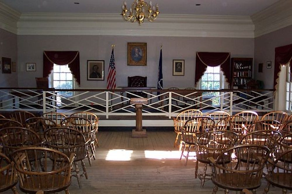 <p>Jefferson Hall is home to the Jefferson Literary and Debating Society.&nbsp;</p>