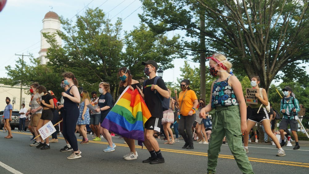 The community gathered Wednesday evening to show solidarity with Black queer and transgender lives, as current protests for racial justice and the LGBTQ+ community's recognition of Pride month recognize intersecting causes.