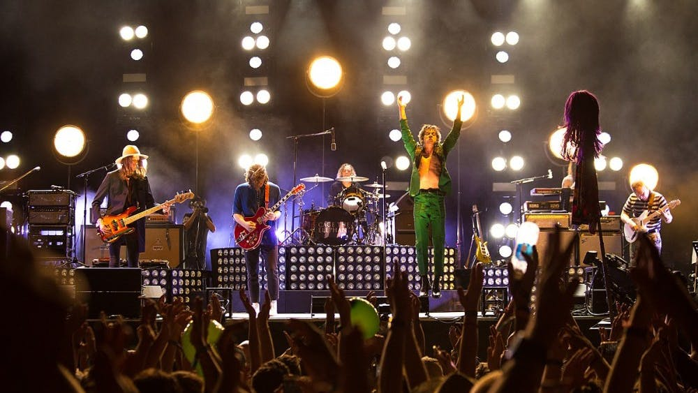 """Cage The Elephant — pictured here performing at Bonnaroo 2017 — has found their comfort zone in new album """"Social Cues."""""""