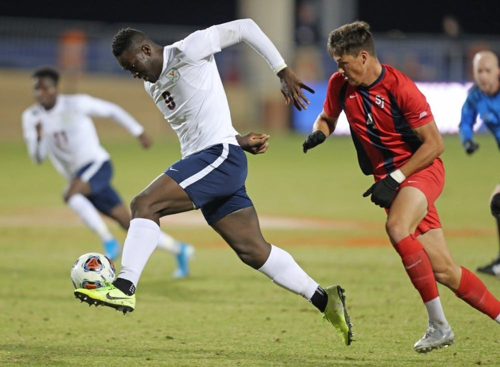 <p>Sophomore forward Daryl Dike drew two fouls inside the 18-yard box to help lead the Cavaliers to the College Cup.&nbsp;</p>