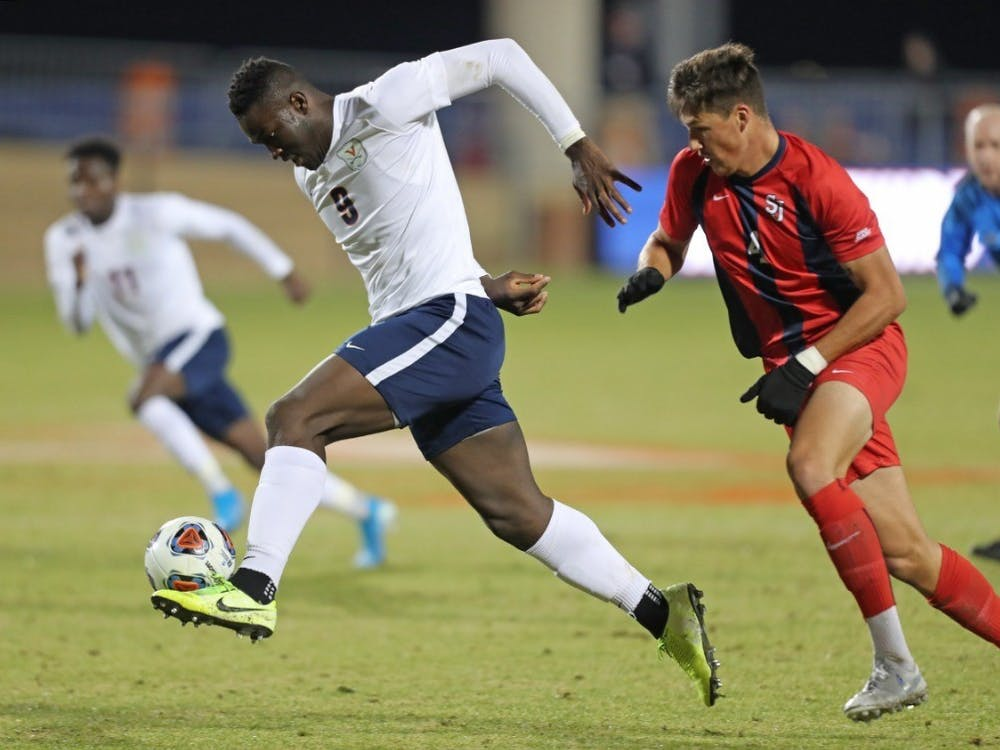 Sophomore forward Daryl Dike drew two fouls inside the 18-yard box to help lead the Cavaliers to the College Cup.