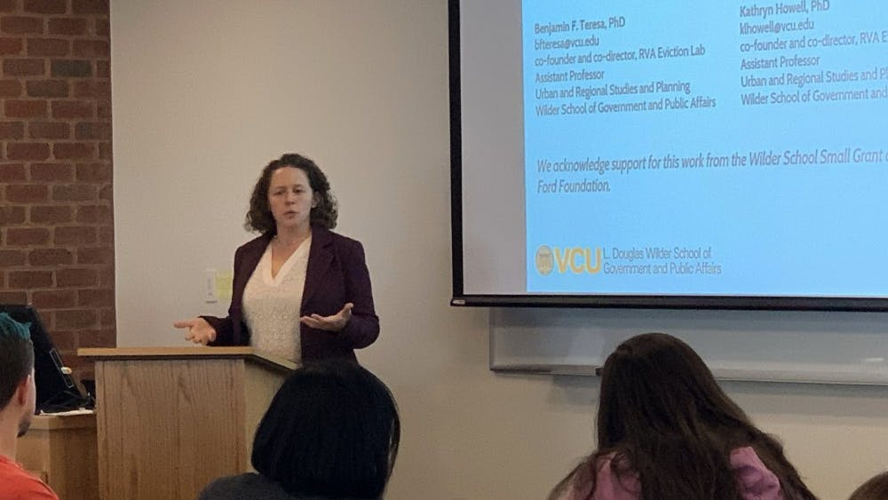 The talk featured data collected by a statistical research project run by Professors Howell and Teresa at VCU's Center for Urban and Regional Analysis.