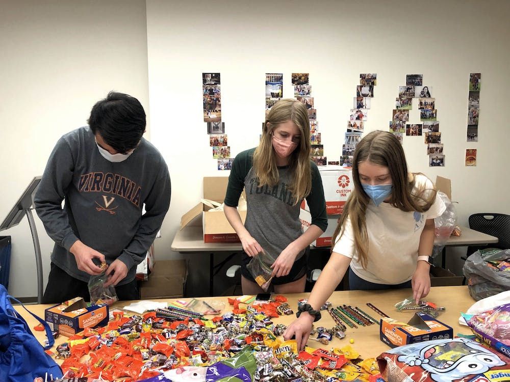 The largest activity involved putting together more than 2,000 treat bags filled with candy, stickers and pencils.