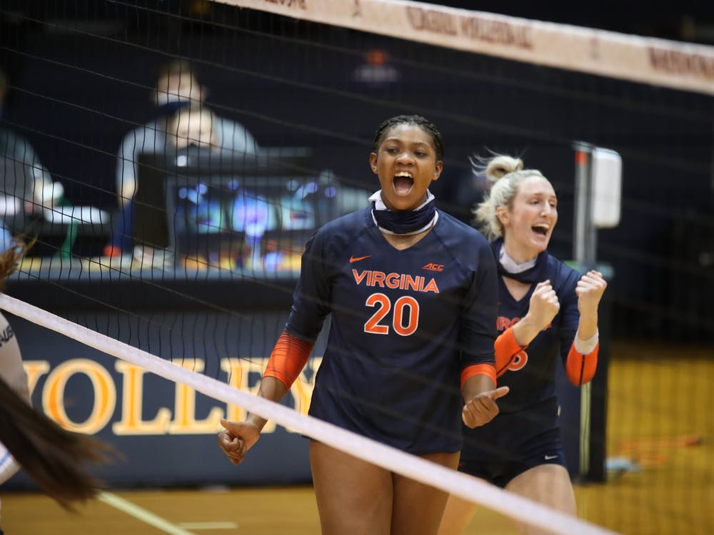 The first meeting between the two programs swayed Virginia's way during every set.