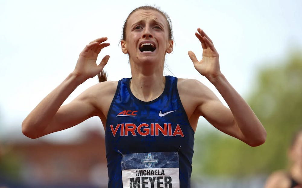 <p>Meyer became the first woman in program history to take home a national title</p>