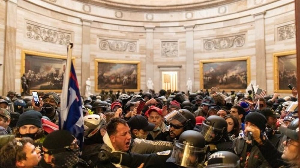 <p>All members of the House and Senate who were complicit in this violent insurrection must be held accountable for their role in encouraging an ongoing coup attempt that counters our democratic values.</p>