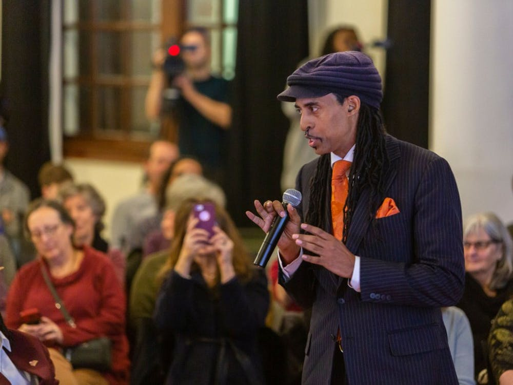 Climate activist Mustafa Santiago Ali at the Voices for Change event on Jan. 25.