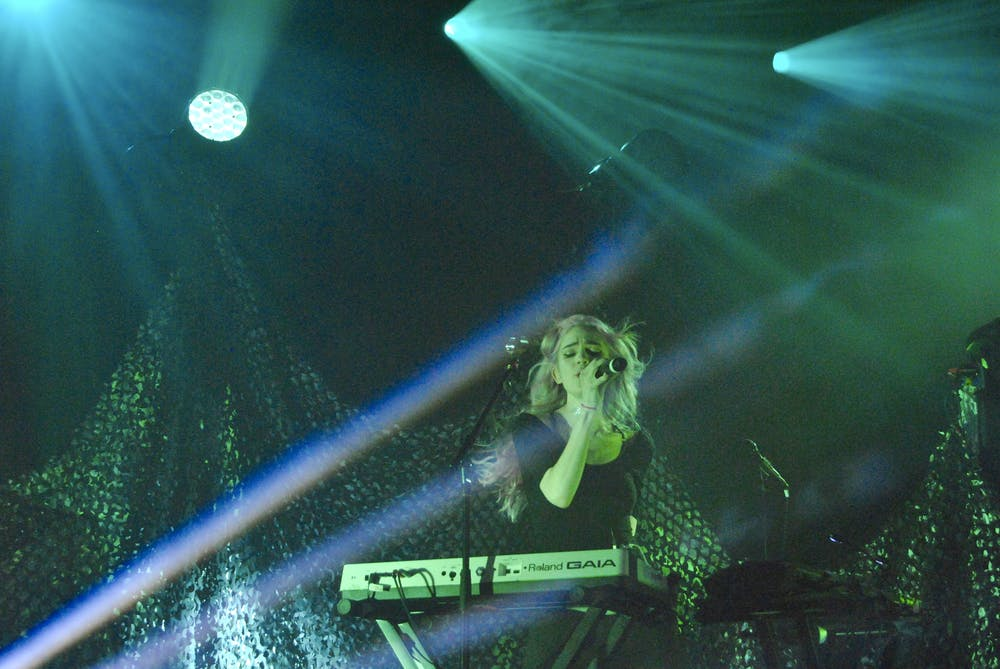 <p>Grimes performed at the Governors Ball Music Festival in New York City in 2014.</p>