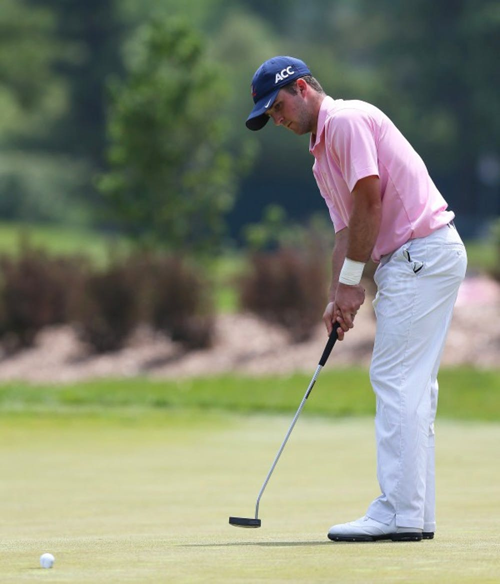 <p>Junior captain Denny McCarthy, ranked seventh nationally and a returning All-American, led the No. 9 Cavaliers in the fall with a 70.25 stroke average in four events. McCarthy recently became the first Virginia player to be named to the Ben Hogan Award Watch List.</p>