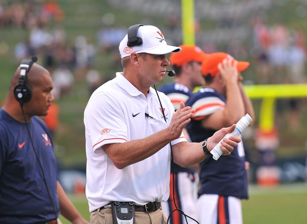 <p>The pressure is on&nbsp;Bronco Mendenhall to ensure his team improves its play in his second season as head coach.</p>