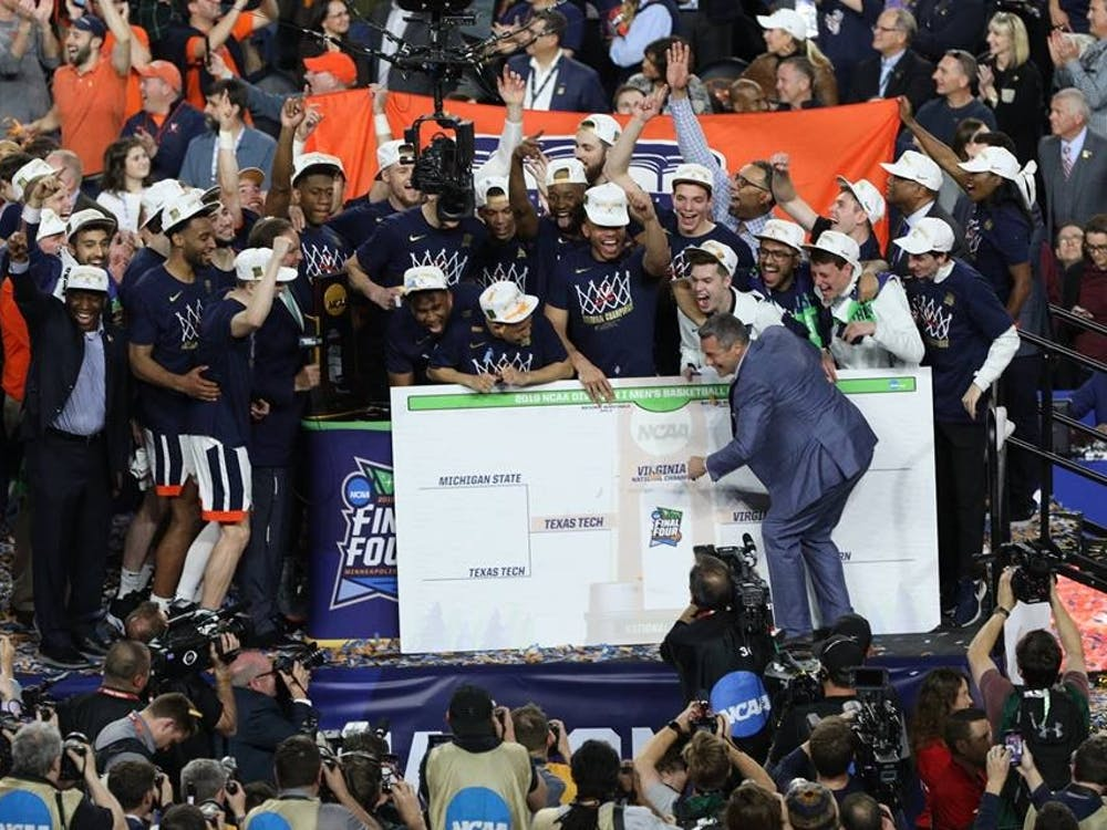 Coach Tony Bennett showed pure joy as he cemented Virginia's place in college basketball history.