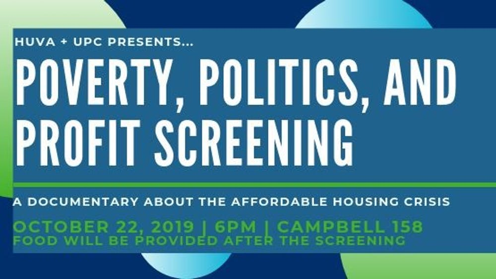 The goal of the screening was to bring the affordable housing crisis to students' attention so that they can be more engaged and informed in the future.
