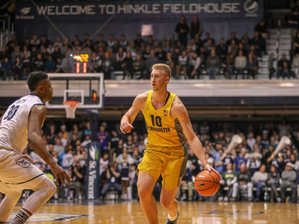 Junior forward Sam Hauser has decided to transfer to Virginia from Marquette.