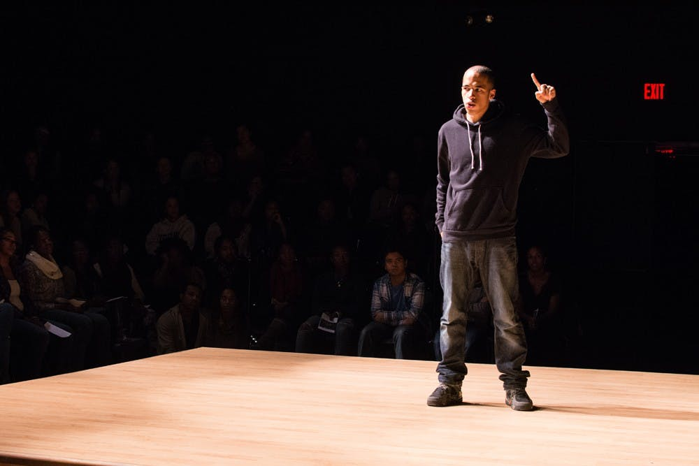 """<p>Students performed """"The Black Monologues"""" at U.Va.'s Helms Theatre last weekend to the enthusiasm of a packed house.</p>"""
