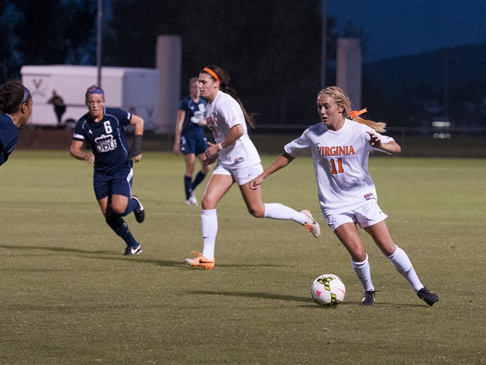 Junior forward Brittany Ratcliffe broke a 1-1 tie Sunday against No. 14 Notre Dame, scoringa goal with20 seconds remainingin the game.
