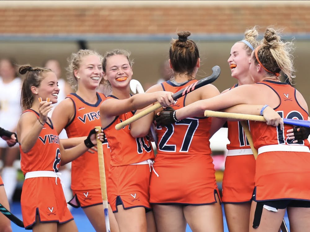 Three Cavaliers combined to score the game-ending shot — Iacobucci, McDonough and Ezechiels.