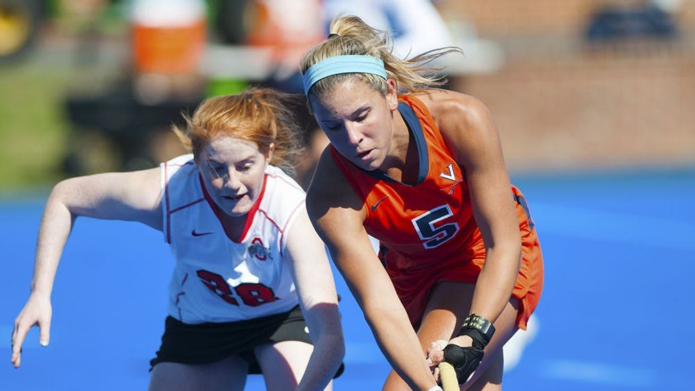 Sophomore striker Caleigh Foust registered a goal and an assist in the loss to the Buckeyes.