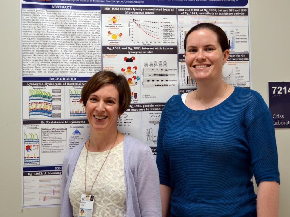 Assoc. Prof. Alison Criss and Biomedical Sciences graduate student Stephanie Ragland, along with two collaborators from the U.K., published a paper in July identifying two novel bacterial proteins that allowed N. gonorrhoeae to resist human lysozyme.