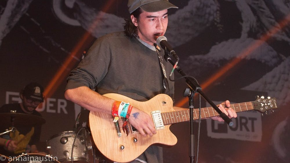 (Sandy) Alex G performing at Fader Fort in 2015.