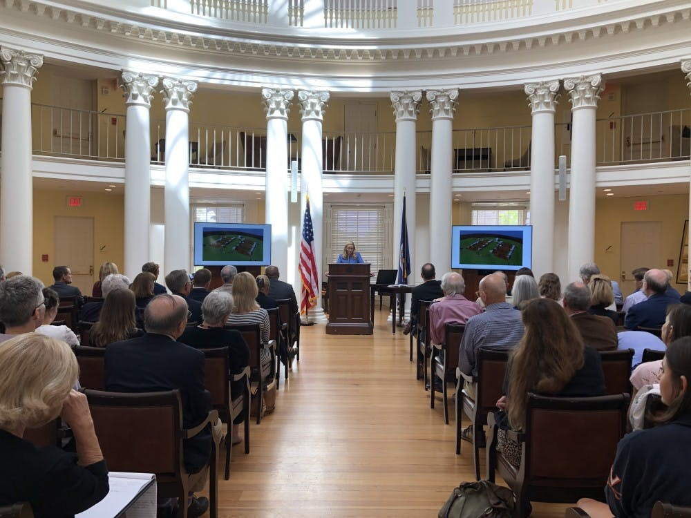 <p>Maurie McInnis, provost and executive vice president at the University of Texas at Austin and an editor of the book, reflected broadly on the history of slavery and the University and how universities today are reckoning with their past.</p>