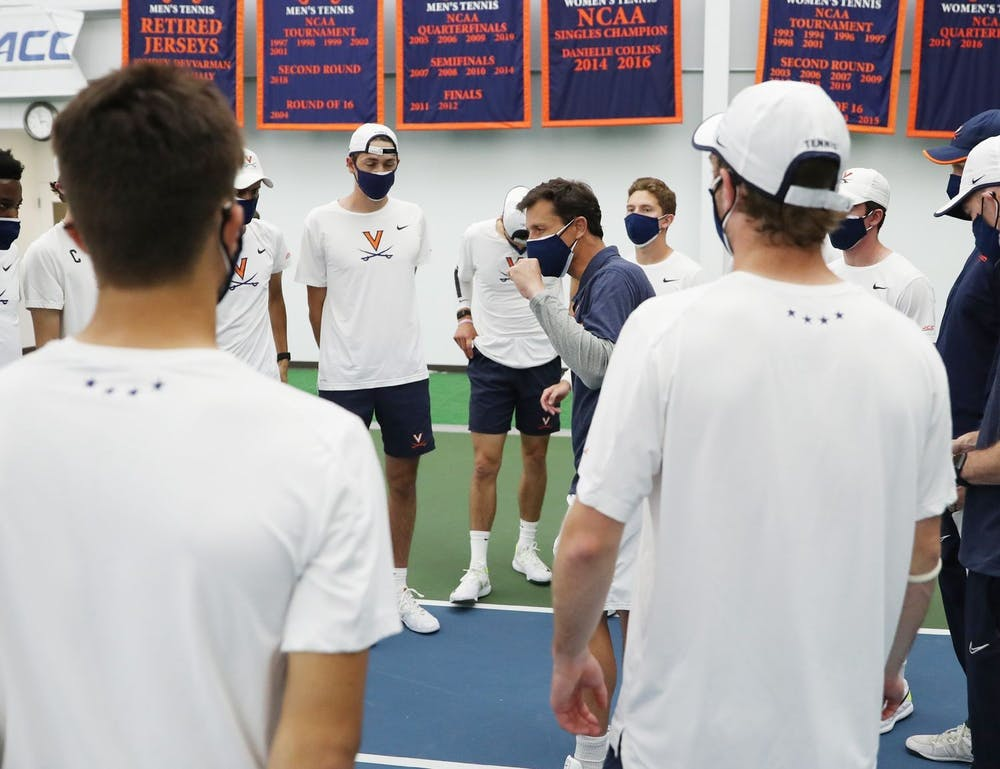 <p>The Virginia men's tennis team cruised through conference play this season, going undefeated and winning the regular-season title.</p>
