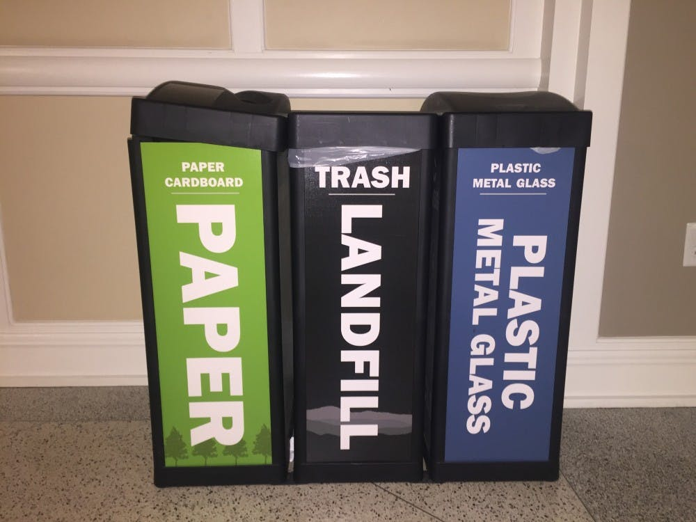 The separation of plastics, metals and glass from paper and from cardboard is what defines multi-stream recycling at the University.