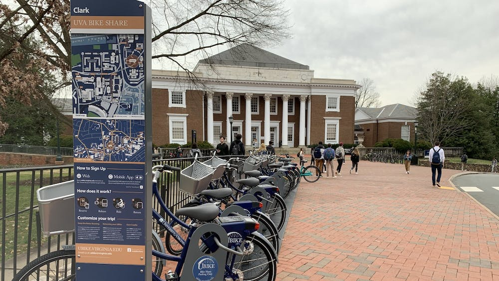 There are more than 60 UBikes available in 17 locations around Grounds, including outside Clark Hall, Newcomb Hall and the Aquatic & Fitness Center.