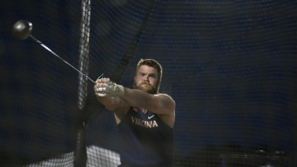 <p>Senior Hilmar Jonsson set Virginia, Lannigan Field and Icelandic records in the hammer throw at the Virginia Grand Prix.</p>