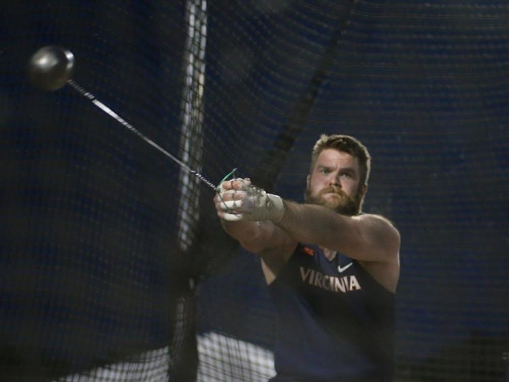 Senior Hilmar Jonsson set Virginia, Lannigan Field and Icelandic records in the hammer throw at the Virginia Grand Prix.
