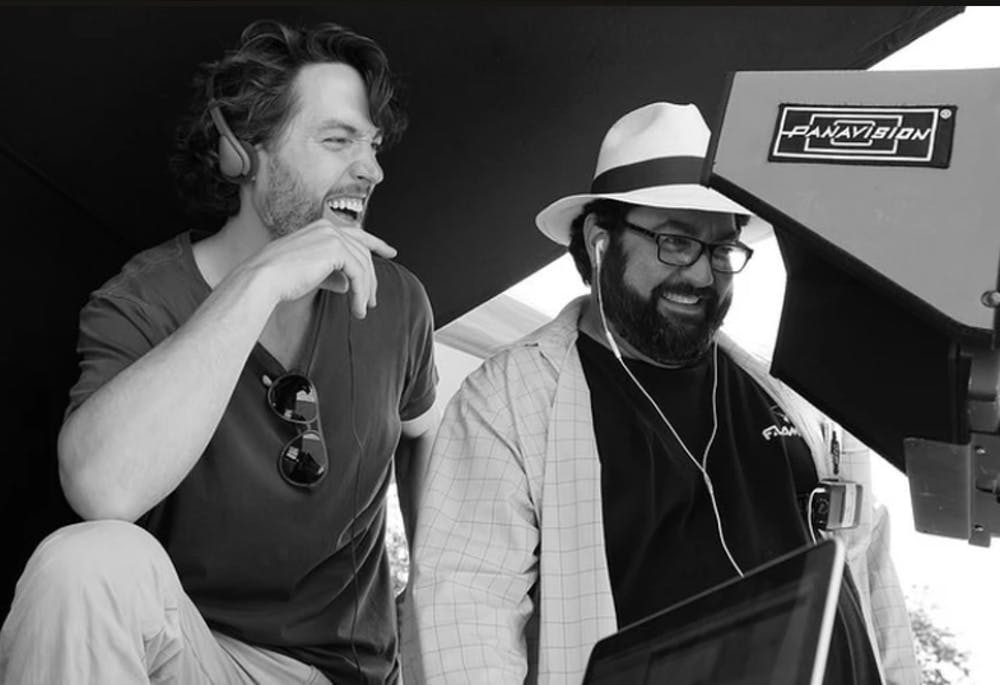 <p>Filmmakers Derek Sieg and Jeremy Goldstein, pictured left to right, in the production process.</p>