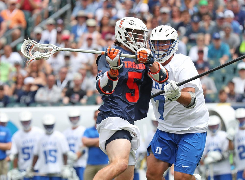 <p>Senior attackman Matt Moore will have to be on his A-game against a strong Duke defense that features senior defender JT Giles-Harris.&nbsp;</p>