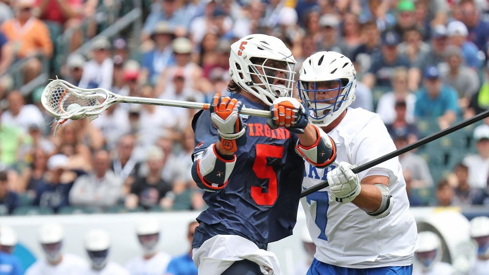Senior attackman Matt Moore will have to be on his A-game against a strong Duke defense that features senior defender JT Giles-Harris.