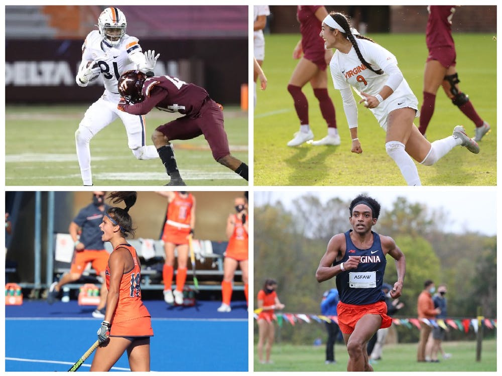 <p>From thrilling games to standout players, the fall 2020 season was an interesting one for Virginia's teams.</p>