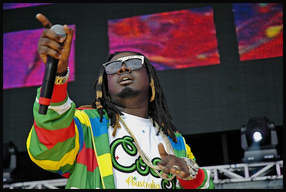 <p>T-Pain performing at a concert in East Rutherford, N.J. in 2007.&nbsp;</p>